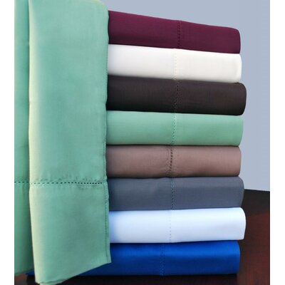 Simple Luxury Hem Stitch 600 Thread Count Sheet Set - Color: Chocolate, Size: Split King at Sears.com