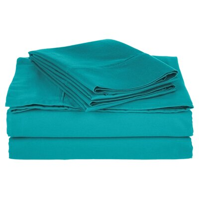 Simple Luxury Cotton Rich 800 Thread Count Solid Sheet Set - Color: Teal, Size: Split King at Sears.com