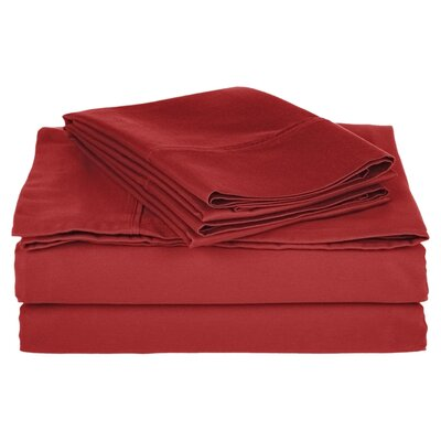 Simple Luxury Cotton Rich 800 Thread Count Solid Sheet Set - Color: Burgundy, Size: Split King at Sears.com