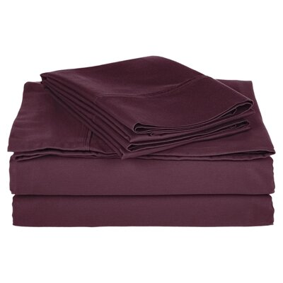 Simple Luxury Cotton Rich 800 Thread Count Solid Sheet Set - Color: Plum, Size: Split King at Sears.com