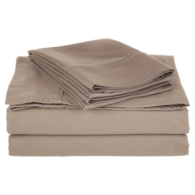 Simple Luxury Cotton Rich 800 Thread Count Solid Sheet Set - Color: Grey, Size: Split King at Sears.com