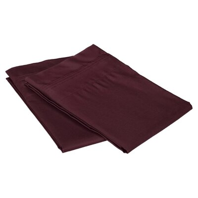 Cotton 1500 Thread Count Solid Pillowcase Pair Color: Plum, Size: Standard