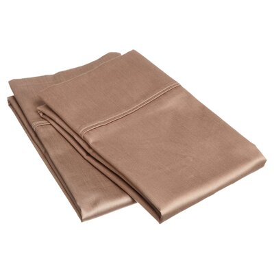 Cotton Rich 800 Thread Count Solid Pillowcase Color: Taupe, Size: King