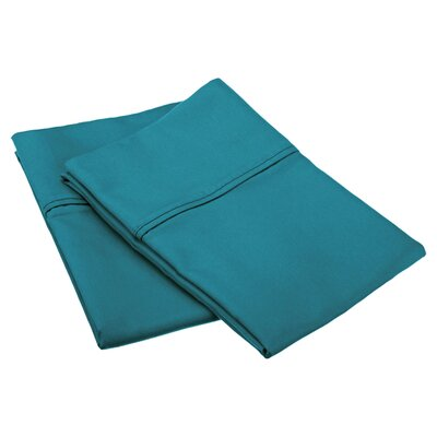 Emerson Cotton Rich 800 Thread Count Solid Pillowcase Size: King, Color: Teal