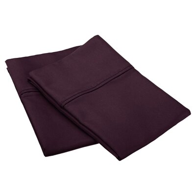 Emerson Cotton Rich 800 Thread Count Solid Pillowcase Size: King, Color: Plum
