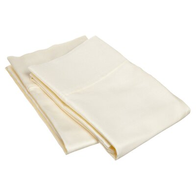 Emerson Cotton Rich 800 Thread Count Solid Pillowcase Size: King, Color: Ivory