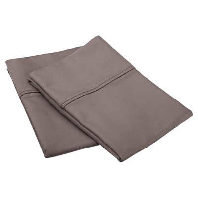Emerson Cotton Rich 800 Thread Count Solid Pillowcase Size: King, Color: Grey