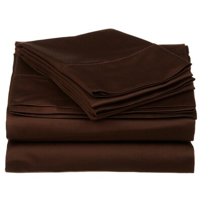 Simple Luxury 530 Thread Count Egyptian Cotton Solid Sheet Set - Size: Split King, Color: Chocolate at Sears.com