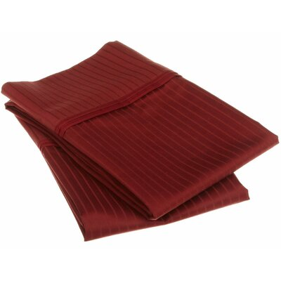 Patric Pillow Case Color: Burgundy, Size: Standard