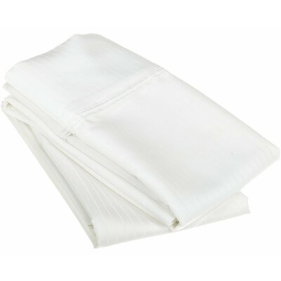 Patric Pillow Case Size: King, Color: White