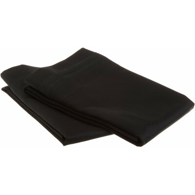 Patric 1500 Thread Count Solid Pillowcase Pair Size: Standard, Color: Black