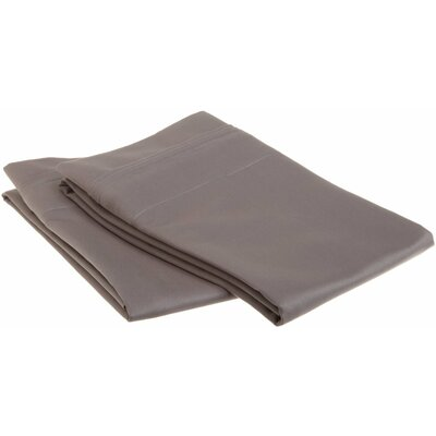 Patric 1500 Thread Count Solid Pillowcase Pair Size: King, Color: Grey