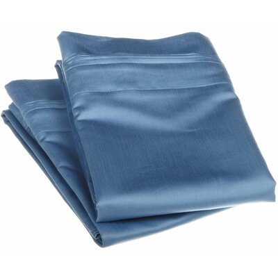 Patric 1500 Thread Count Solid Pillowcase Pair Size: King, Color: Light Blue