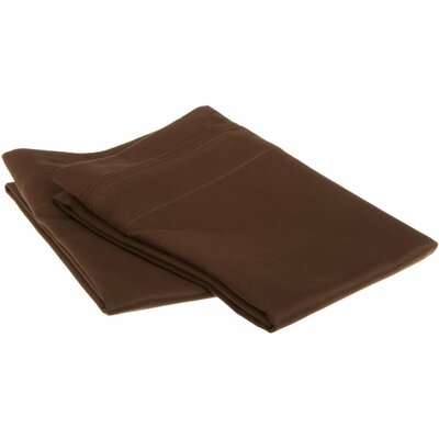 Patric 1500 Thread Count Solid Pillowcase Pair Size: King, Color: Mocha