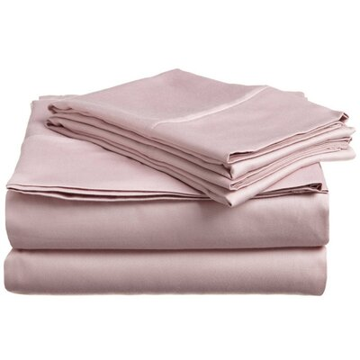 300 Thread Count Premium Long-Staple Combed Cotton Solid Queen Waterbed Sheet Set Color: Lavender