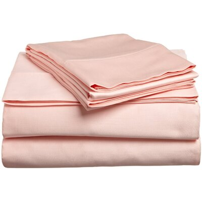 300 Thread Count Premium Long-Staple Combed Cotton Solid Queen Waterbed Sheet Set Color: Peach