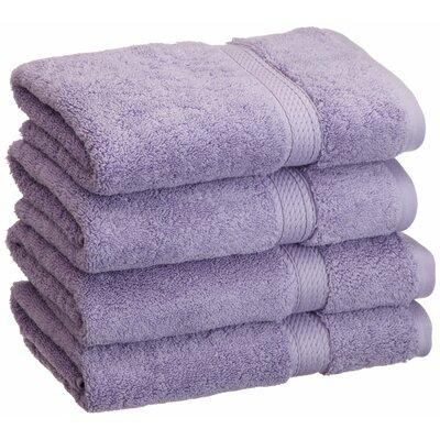 Simple Luxury Superior 900 GSM Egyptian Cotton 4 Piece Hand Towel Set - Color: Purple