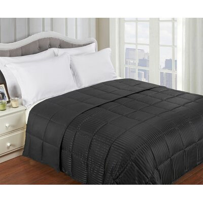 Simple Luxury All-Season Down Alternative Reversible Microfiber Blanket - Size: Full / Queen, Color: Black at Sears.com
