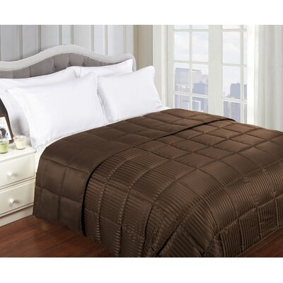 Simple Luxury All-Season Down Alternative Reversible Microfiber Blanket - Size: Full / Queen, Color: Chocolate at Sears.com