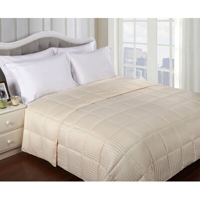 Simple Luxury All-Season Down Alternative Reversible Microfiber Blanket - Size: Full / Queen, Color: Ivory at Sears.com