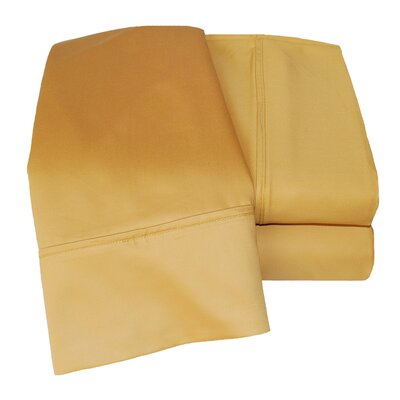 Cotton Rich 1000 Thread Count Olympic Queen Solid Sheet Set Color: Gold