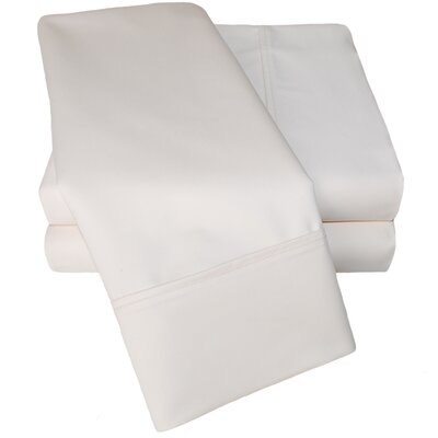 Uinta 1000 Thread Count Wrinkle Resistant Cotton Blend Sheet Set Color: Ivory, Size: Split King