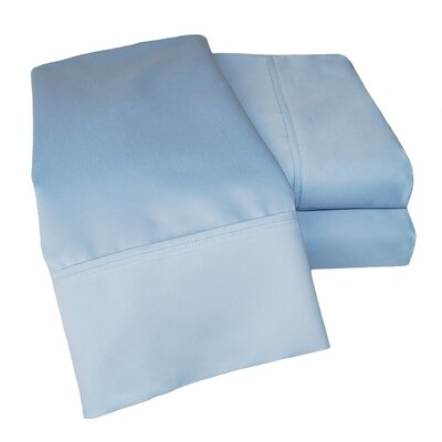 Simple Luxury Cotton Rich 1000 Thread Count Solid Sheet Set - Color: Light Blue, Size: California King at Sears.com