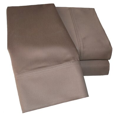 Cotton Rich 1000 Thread Count Olympic Queen Solid Sheet Set Color: Taupe