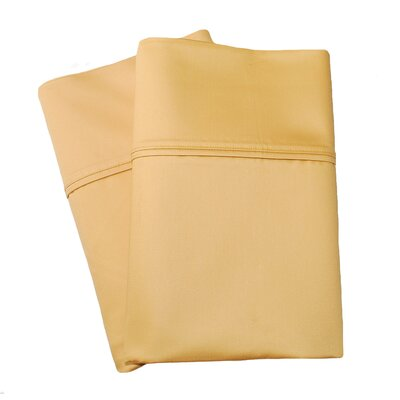 Uinta Cotton Blend 1000 Thread Count Wrinkle Resistant Solid Pillowcase Pair Size: King, Color: Gold