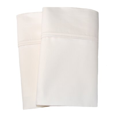 Uinta Cotton Blend 1000 Thread Count Wrinkle Resistant Solid Pillowcase Pair Size: King, Color: Ivory