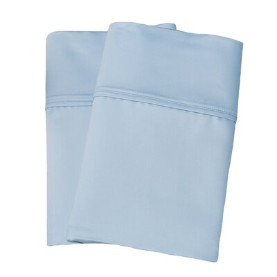 Uinta Cotton Blend 1000 Thread Count Wrinkle Resistant Solid Pillowcase Pair Size: King, Color: Light Blue