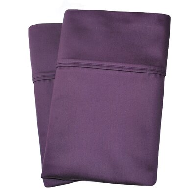 Uinta Cotton Blend 1000 Thread Count Wrinkle Resistant Solid Pillowcase Pair Color: Plum, Size: Standard