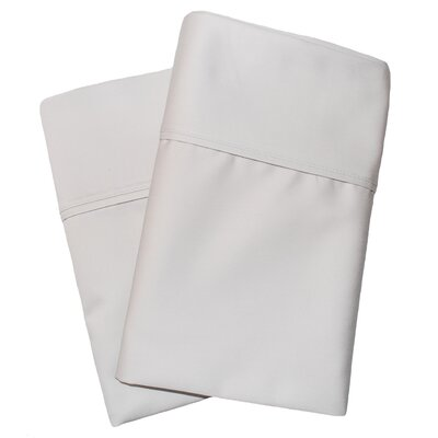 Uinta Cotton Blend 1000 Thread Count Wrinkle Resistant Solid Pillowcase Pair Color: Stone, Size: King