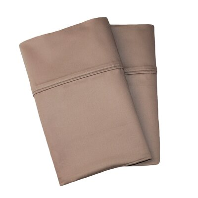 Uinta Cotton Blend 1000 Thread Count Wrinkle Resistant Solid Pillowcase Pair Color: Taupe, Size: King