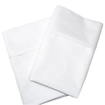 Uinta Cotton Blend 1000 Thread Count Wrinkle Resistant Solid Pillowcase Pair Color: White, Size: Standard
