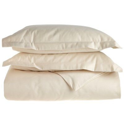 Cotton 1500 Thread Count Solid Duvet Cover Set Size: King / California King, Color: Ivory