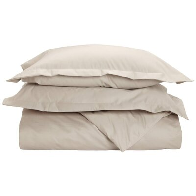 Cotton 1500 Thread Count Solid Duvet Cover Set Size: Full / Queen, Color: Stone