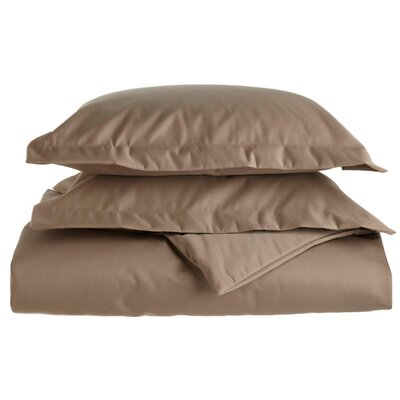 Cotton 1500 Thread Count Solid Duvet Cover Set Size: King / California King, Color: Taupe