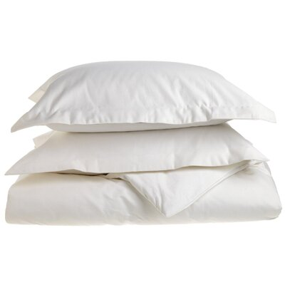 Cotton 1500 Thread Count Solid Duvet Cover Set Size: Full / Queen, Color: White