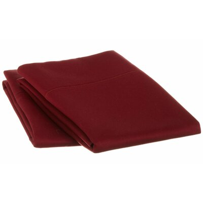 Cotton 1500 Thread Count Solid Pillowcase Pair Color: Burgundy, Size: King