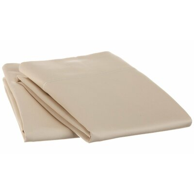 Cotton 1500 Thread Count Solid Pillowcase Pair Size: Standard, Color: Ivory