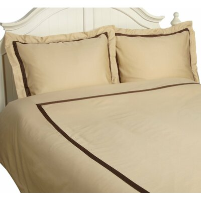 Hotel Reversible Duvet Cover Set Size: Twin, Color: Honey / Mocha
