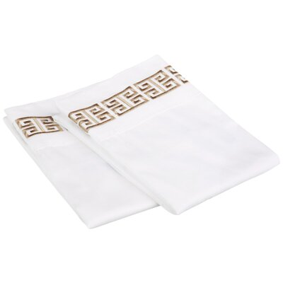 Bourg Cotton Pillowcase Size: Standard, Color: Taupe