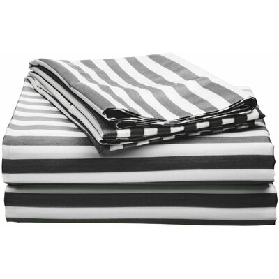 Simple Luxury Cabana 600 Thread Count Rich Cotton Sheet Set - Size: King, Color: Navy Blue