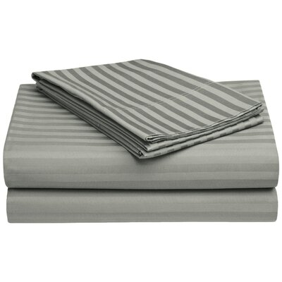 650 Thread Count Egyptian-Quality Cotton Sheet Set Color: Gray