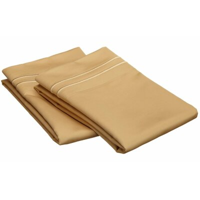 Patric 800 Thread Count Solid Pillowcase Size: Standard, Color: Gold / Gold
