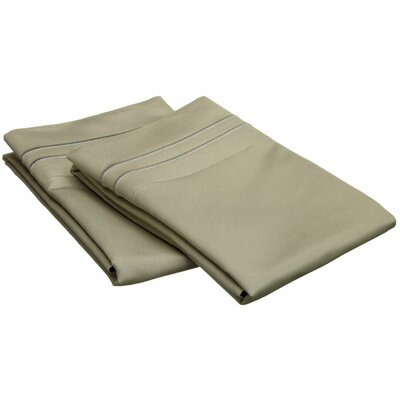 Patric 800 Thread Count Solid Pillowcase Size: King, Color: Sage / Sage