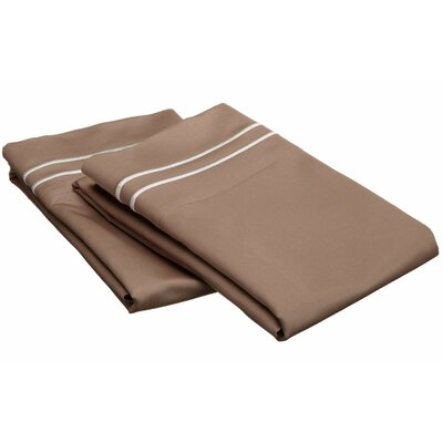 Tipton 800 Thread Count Solid Pillowcase Color: Taupe / Ivory, Size: Standard