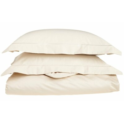 Tipton 3 Piece Embroidered Reversible Duvet Cover Set Color: Ivory / Ivory, Size: King / California King