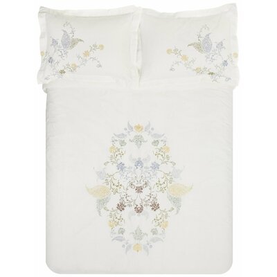 Hyacinth 3 Piece Embroidered Reversible Duvet Set Size: King/California King